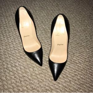 Shoes - Authentic Christian Louboutin leather 120mm heels